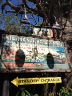 Kilimanjaro Safaris was our first stop. This attraction has evolved through the years, but it's still an exciting trip through the Harambe Wildlife Preserve.