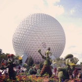 Allie instagrammed the start of our day at Epcot … Spaceship Earth!